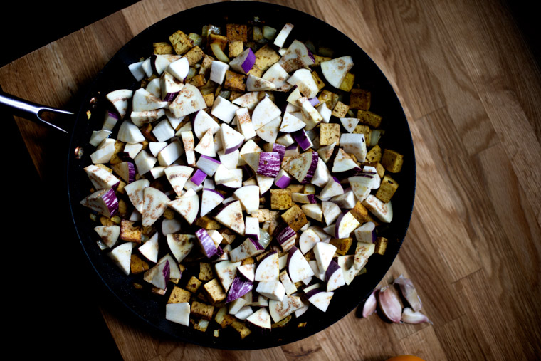 Eggplant & Tofu Ratatouille with Thai Basil