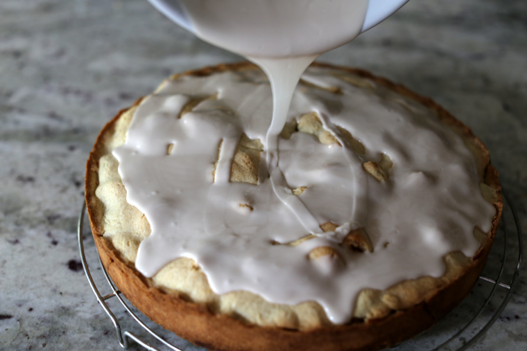 Apple Cake with Rum Glaze