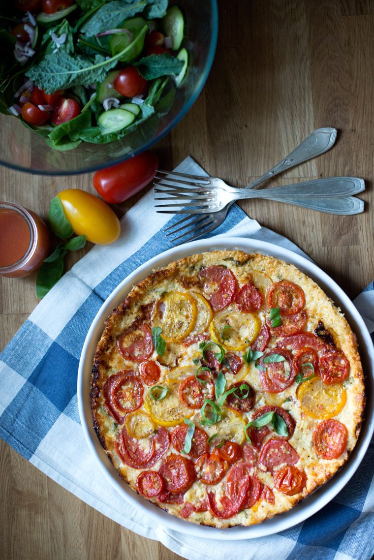 Basil Tomato Tart Good Food