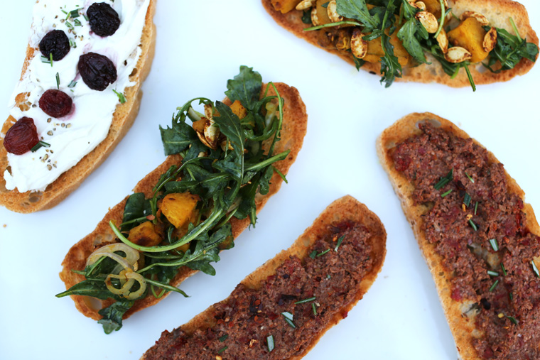 Crostini 3 Ways | Earthy Feast