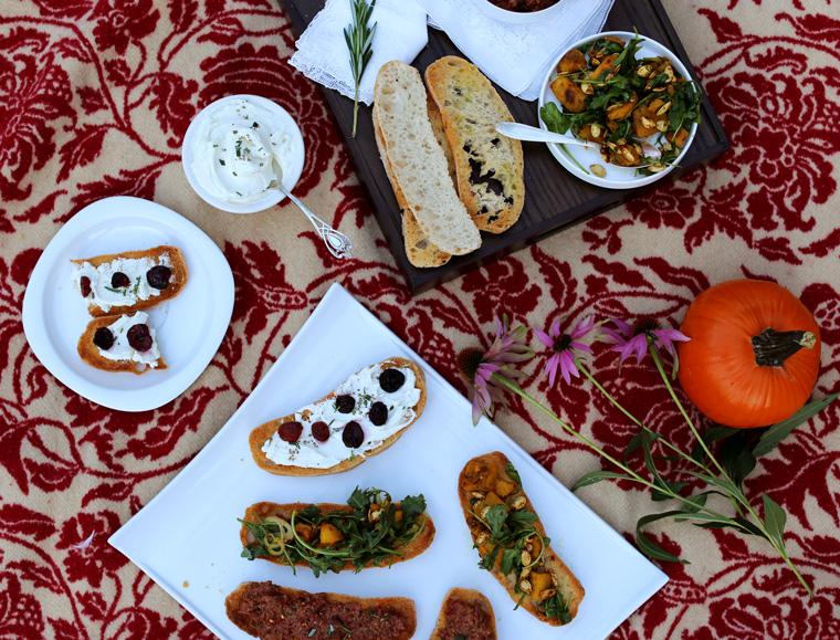 Crostini 3 Ways | Earthy Feast