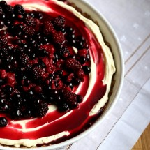 Mascarpone Cheesecake with Berries & Cardamom