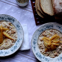 White Bean Soup with Barley & Caramelized Parsnips {Vegan}