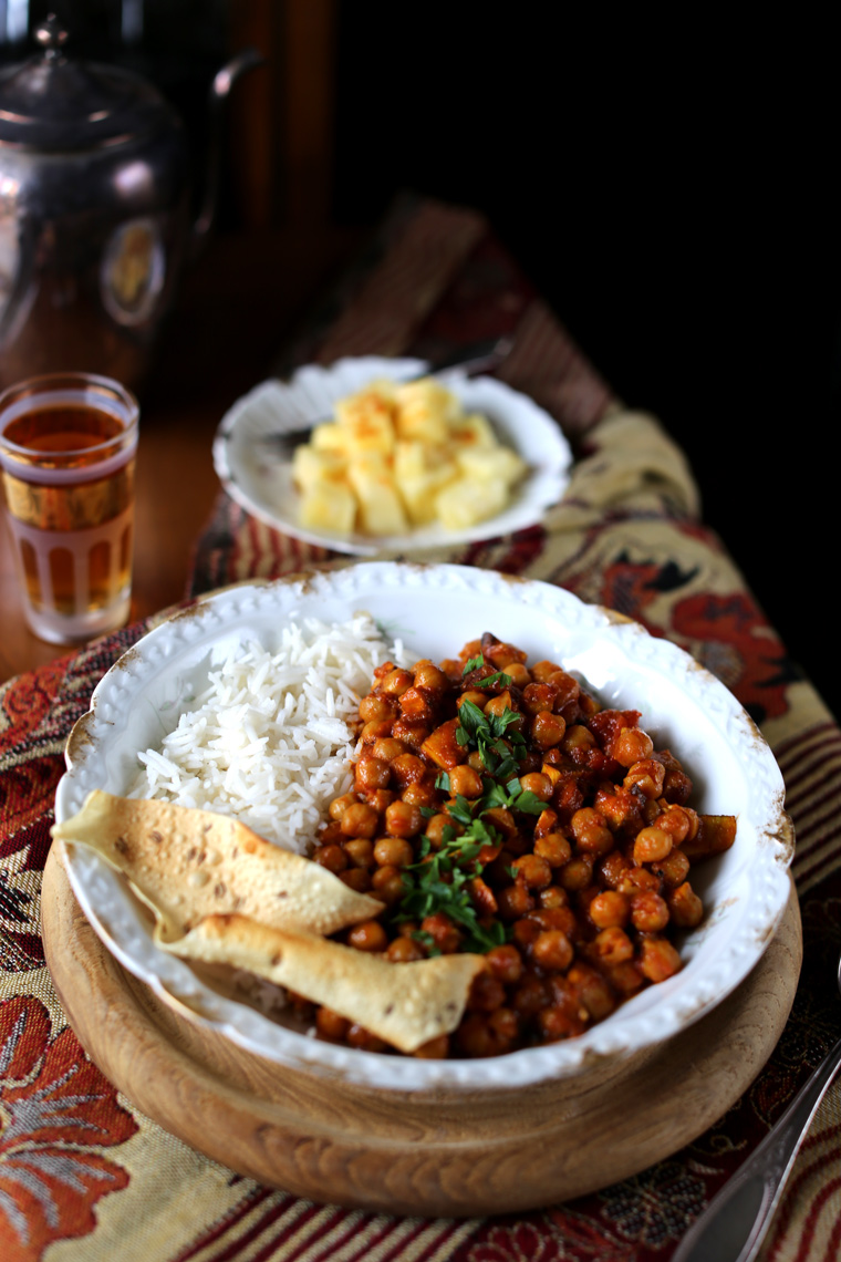 Chana Masala with fresh Coconut
