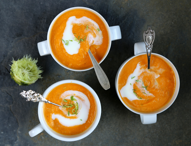 Sweet Potato Soup with Ginger & Lime