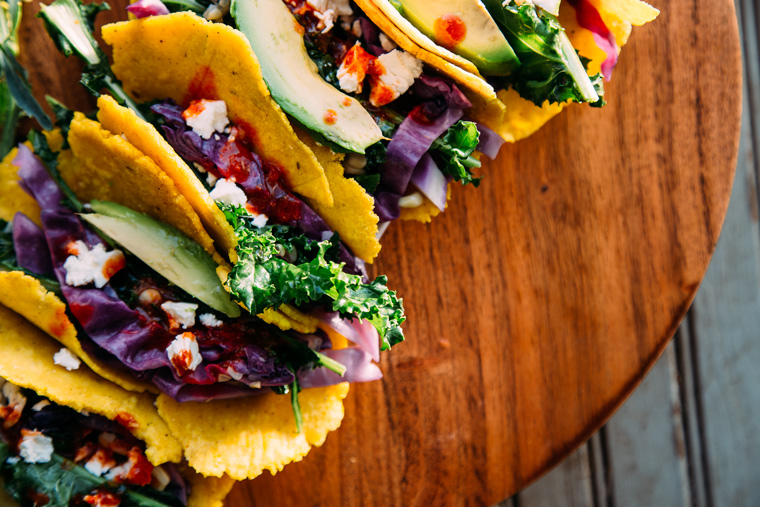 Vegetable Tacos with Feta + Lime