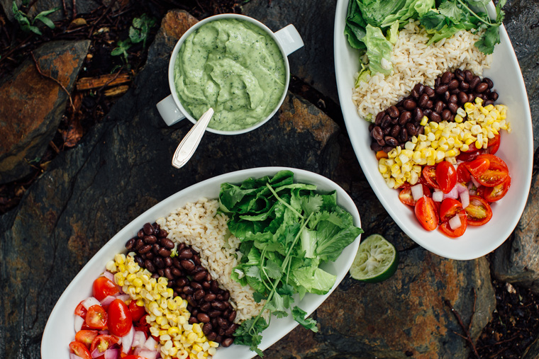 Burrito Bowl + Spicy Green Goddess Dressing