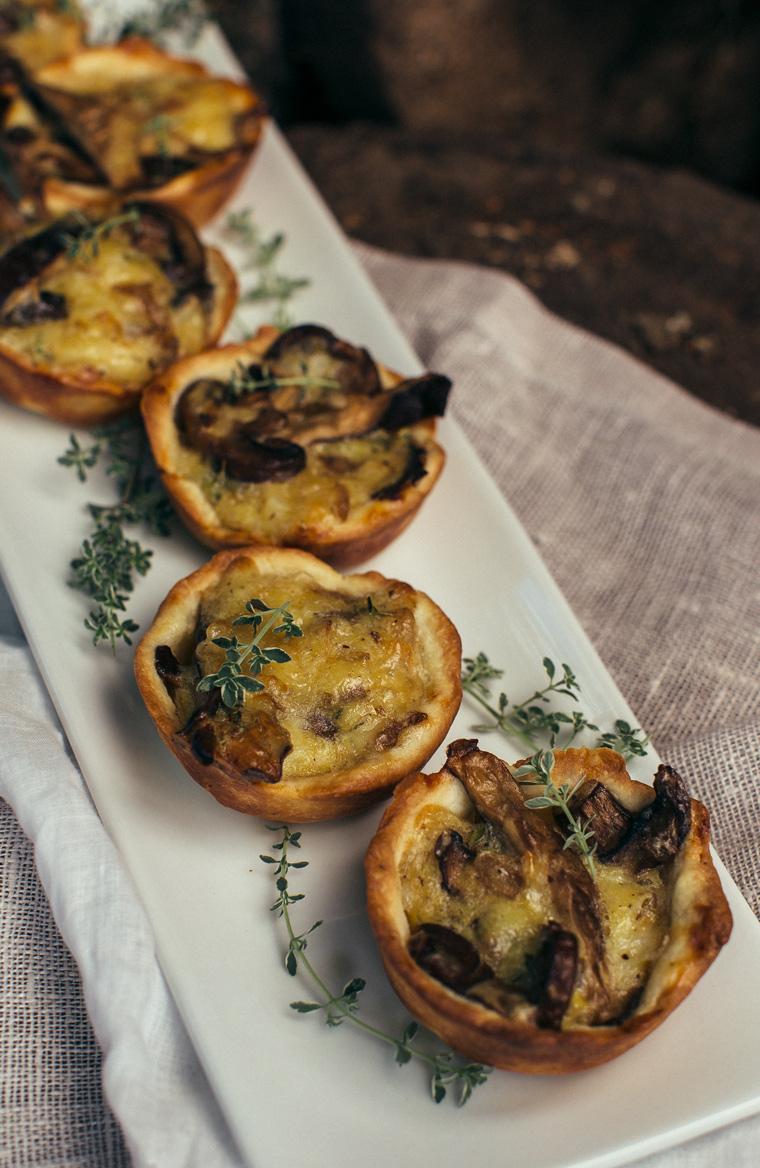 Mushroom Tarts with Thyme