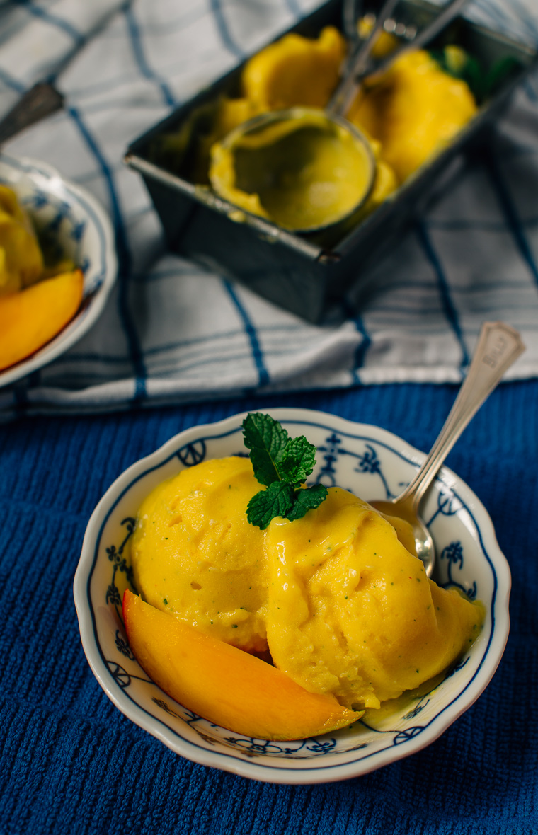 Mango Gelato with Mint + Cayenne | Earthy Feast