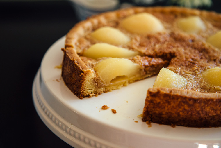 French Pear Tart with Almond Cream
