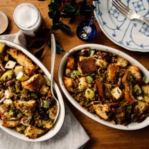 "Apple, Herb & ""Sausage"" Stuffing"