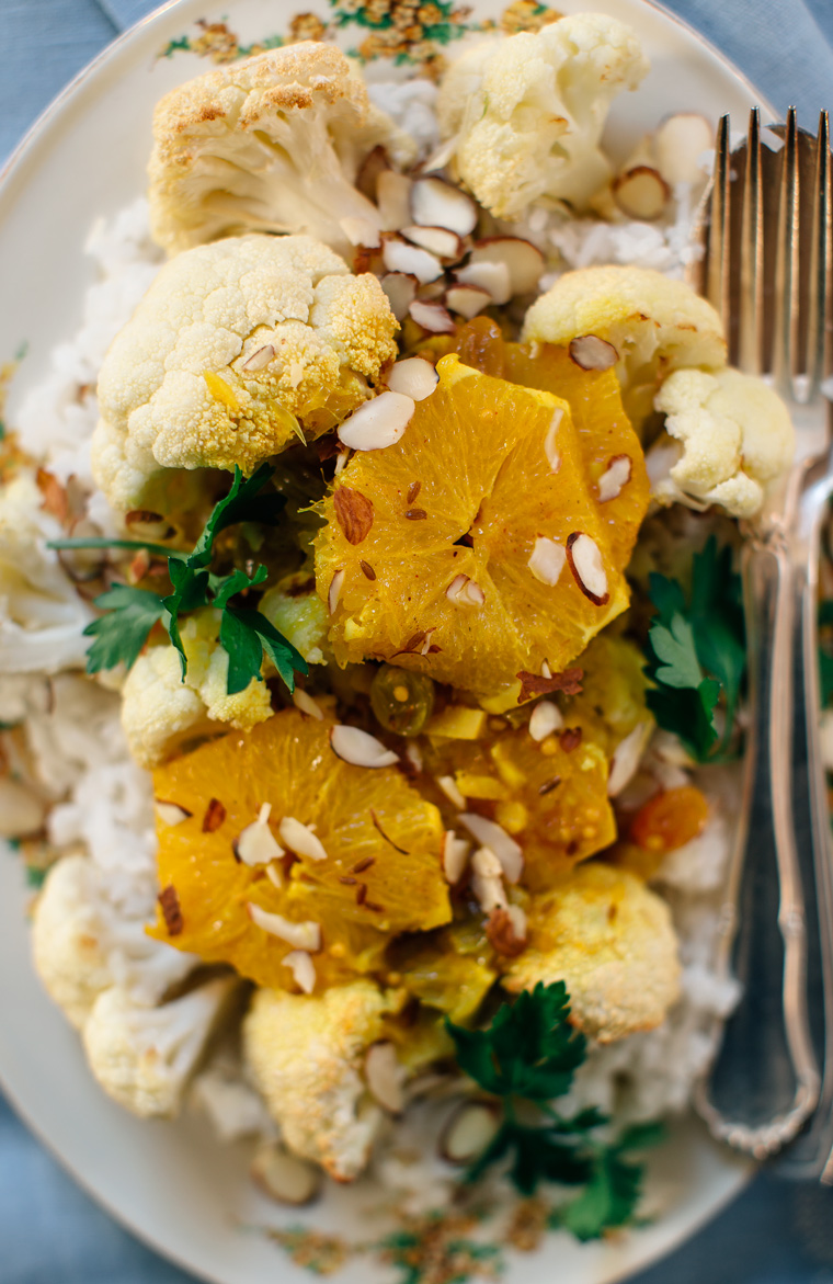 Orange Curry with Roasted Cauliflower