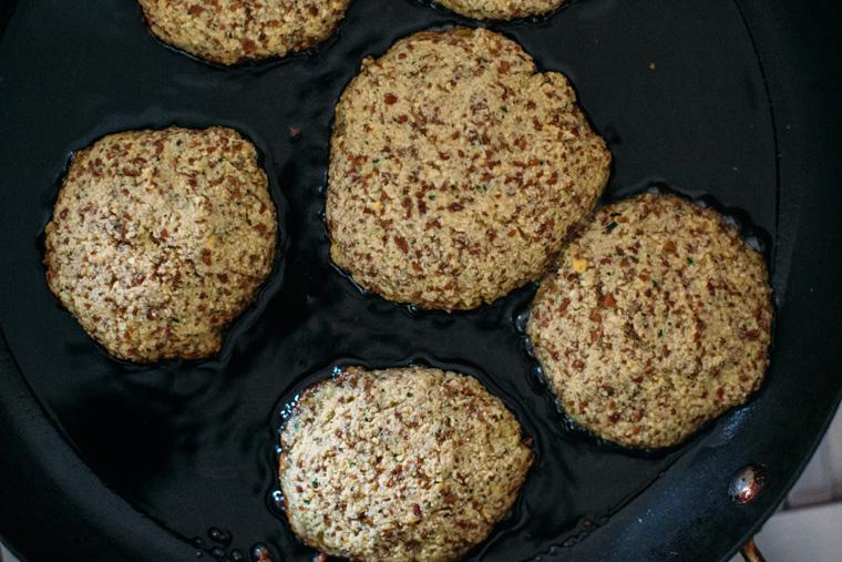 Veggie Sausage + Gravy Biscuits