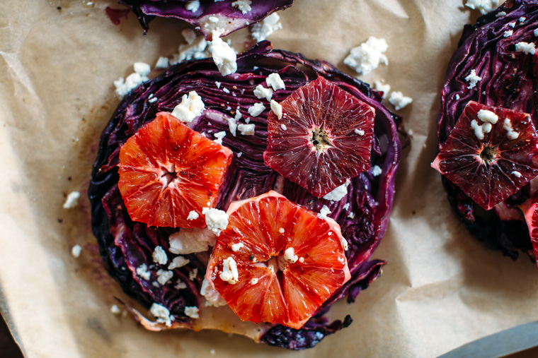 Roasted Red Cabbage with Sweet & Spicy Blood Oranges + a Walnut Oil Vinaigrette