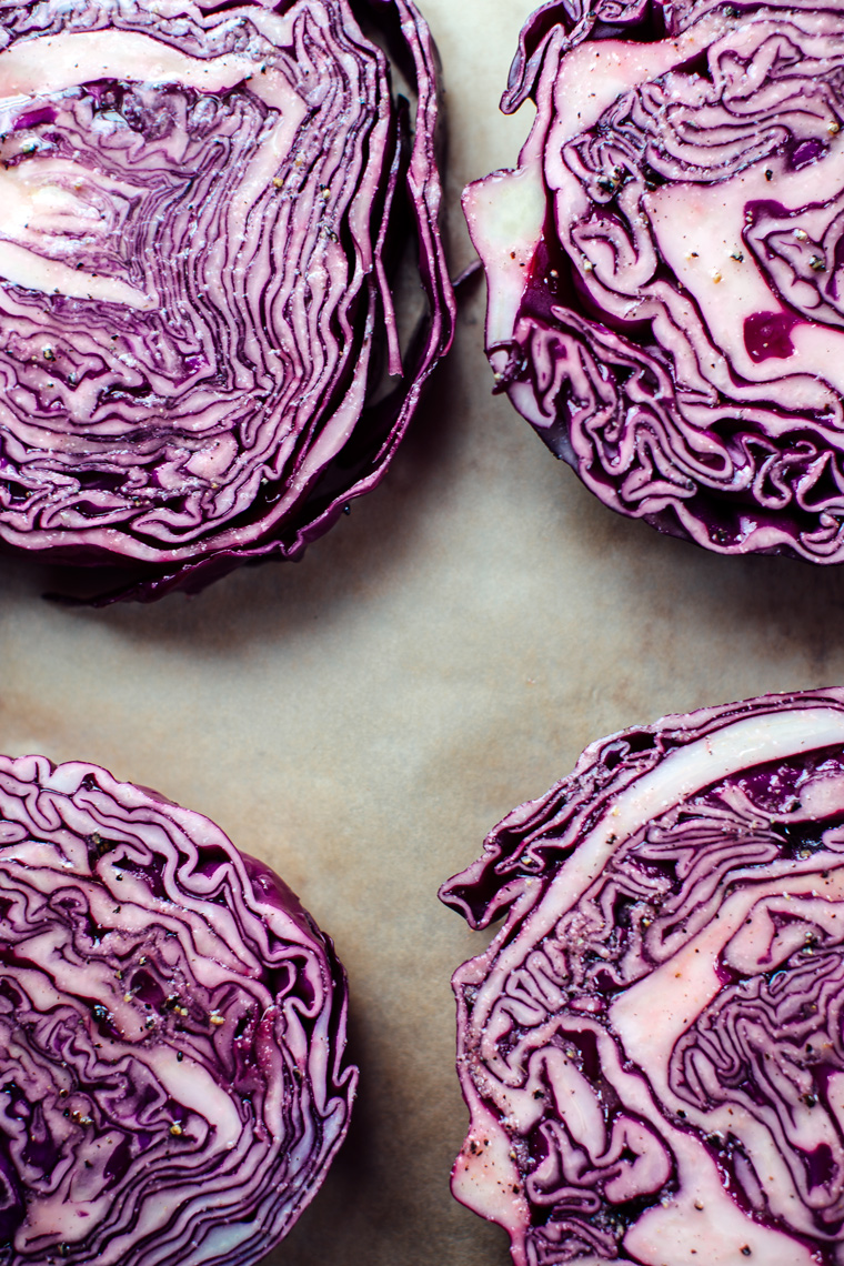 Roasted Red Cabbage with Sweet & Spicy Blood Orange + a Walnut Oil Vinaigrette