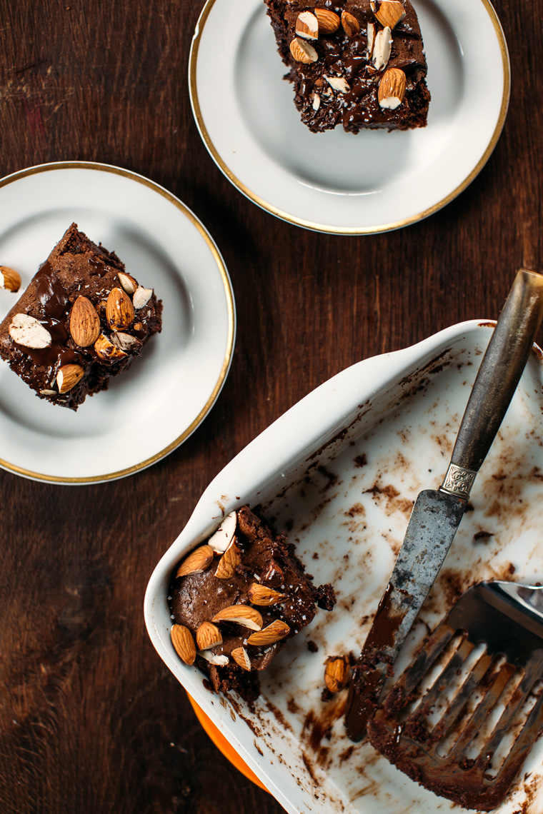 Almond Butter Brownies with Sea Salt