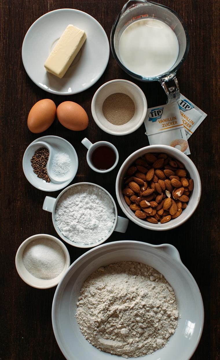Semlor {Swedish Cardamom Cream Puffs with Almond Paste}