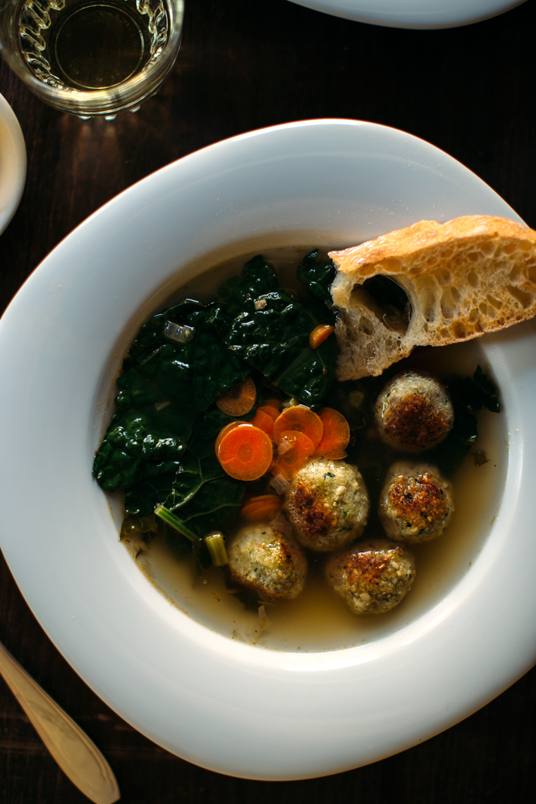 Italian Wedding Soup with White Lentil Meatballs