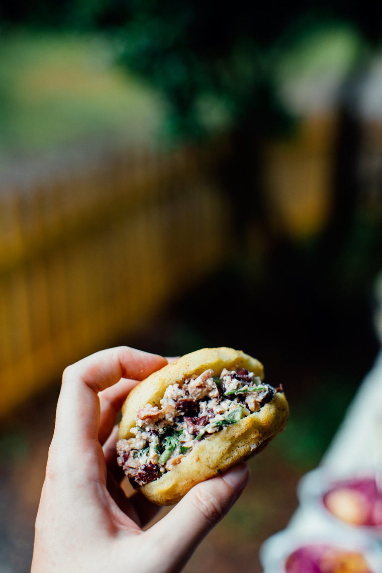 Bean + Cheese Stuffed Arepas