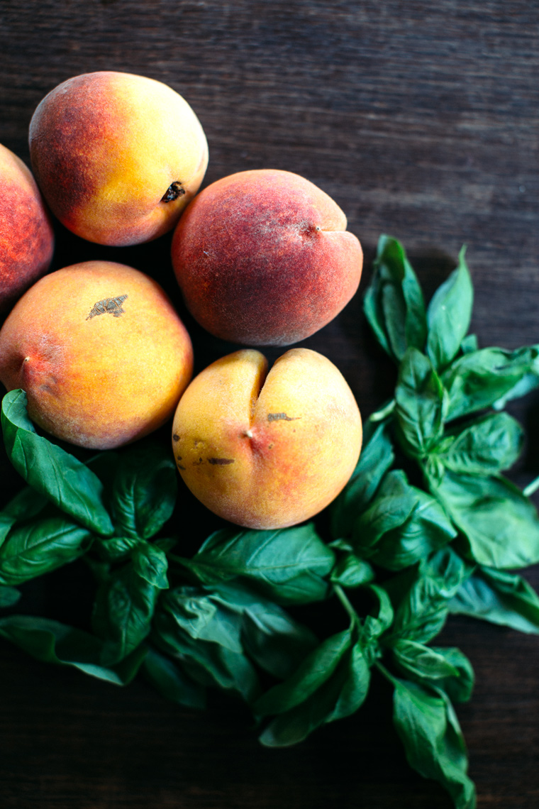 Peach Salad with Feta + Basil
