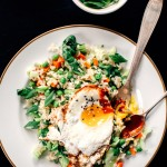 Ginger, Garlic Infused Rice with Bok Choy + a Fried Egg