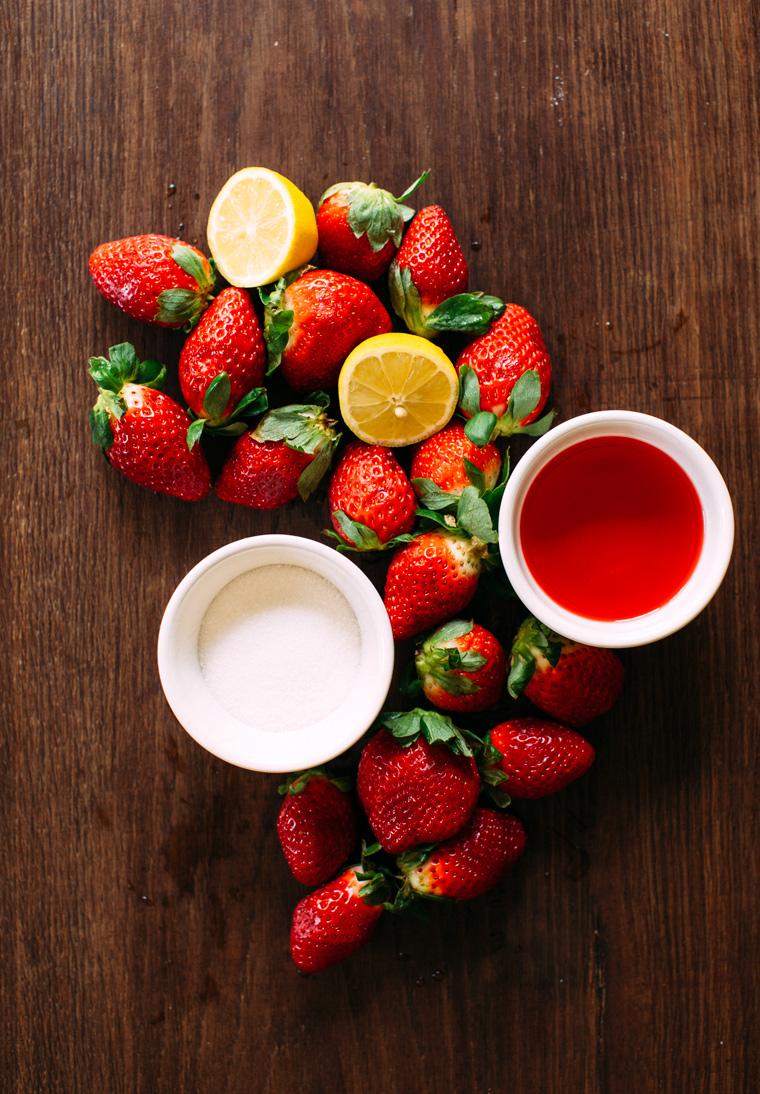 Strawberry + Campari Paletas with Prosecco - Earthy Feast