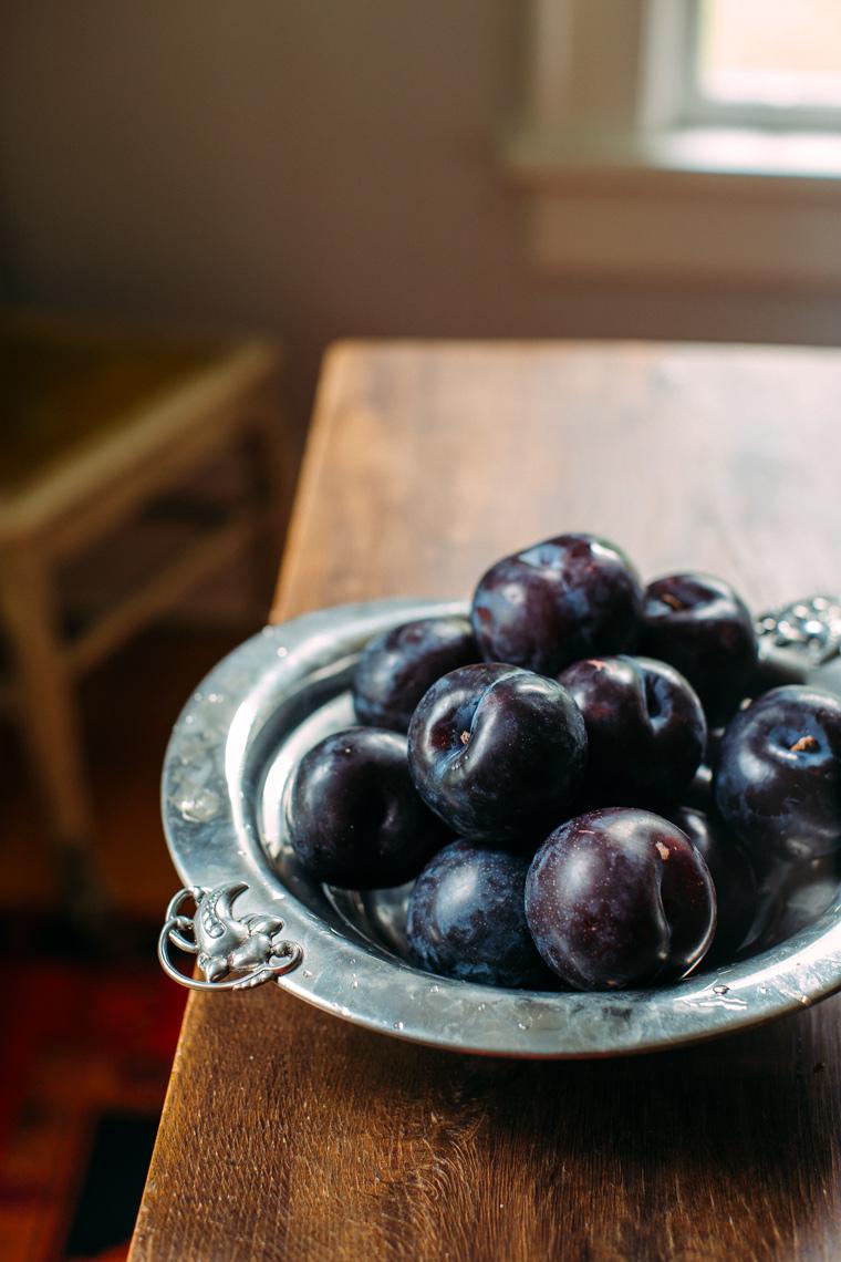 Plum Tart with Almond Streusel