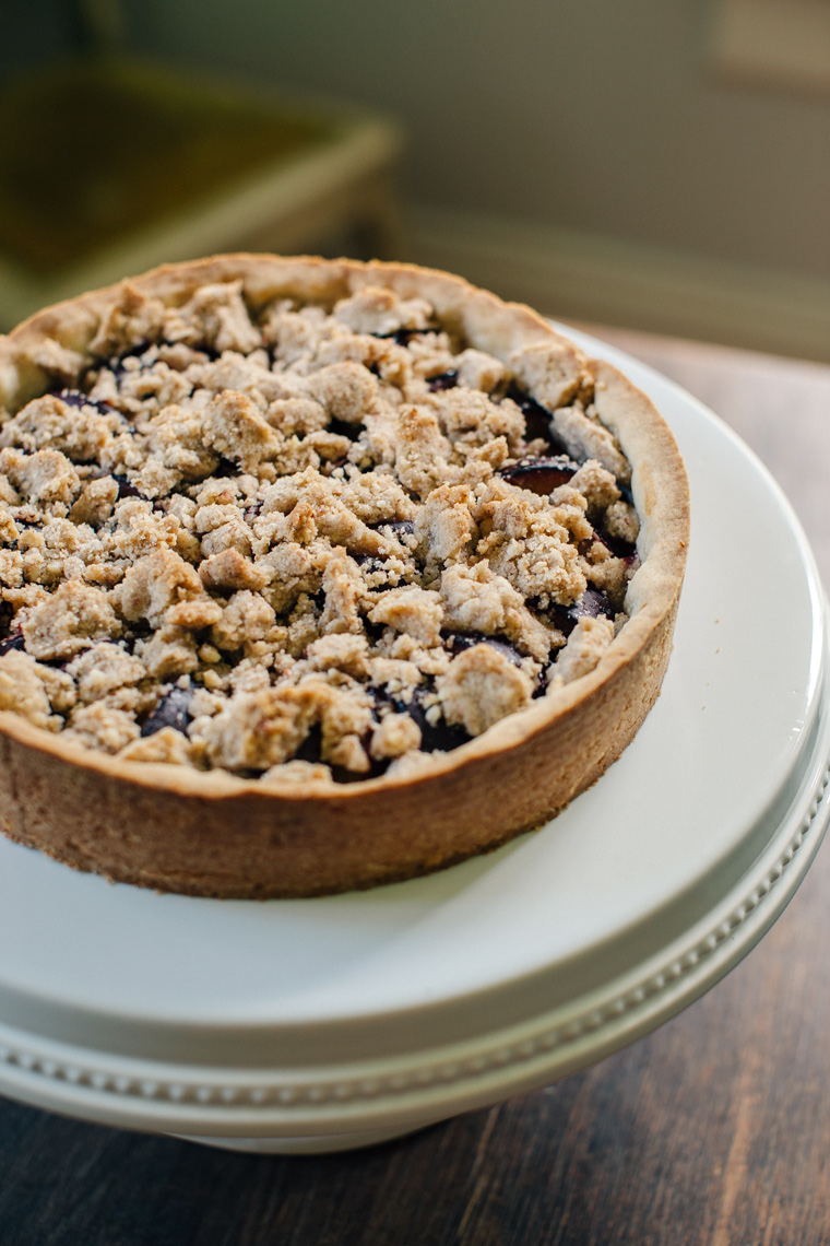Plum Tart with Almond Streusel