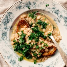 White Bean Soup with Garlic + Herbs