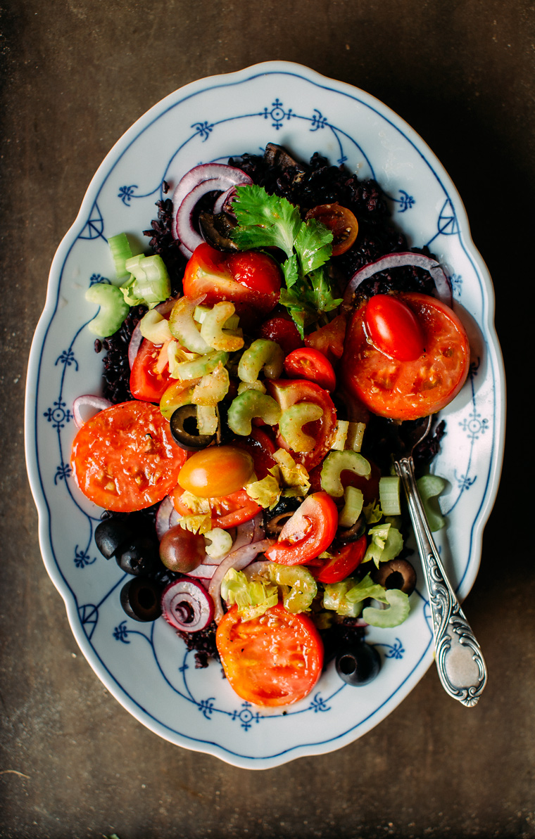 Bloody Mary Salad with Black Rice