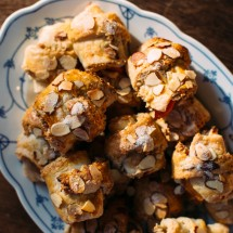Rugelach with Almonds + Peaches