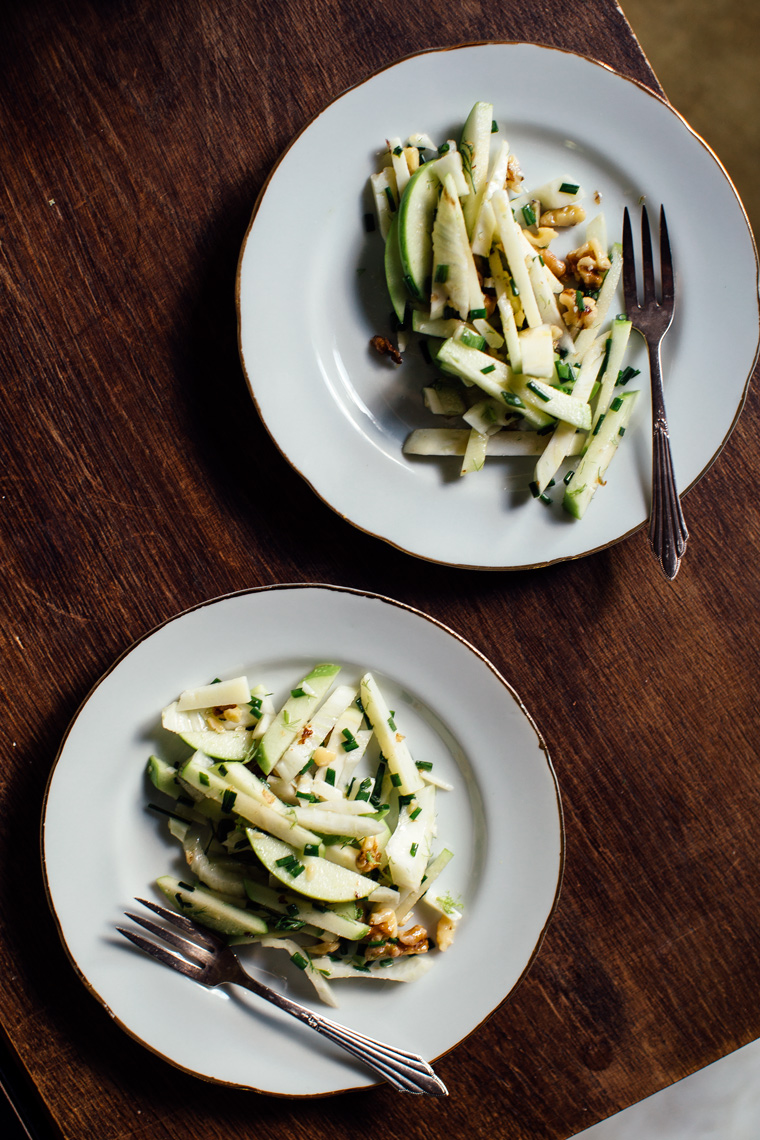 Apple, Fennel + Manchego Salad