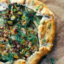 Leek + Potato Galette with Hazelnut Crust