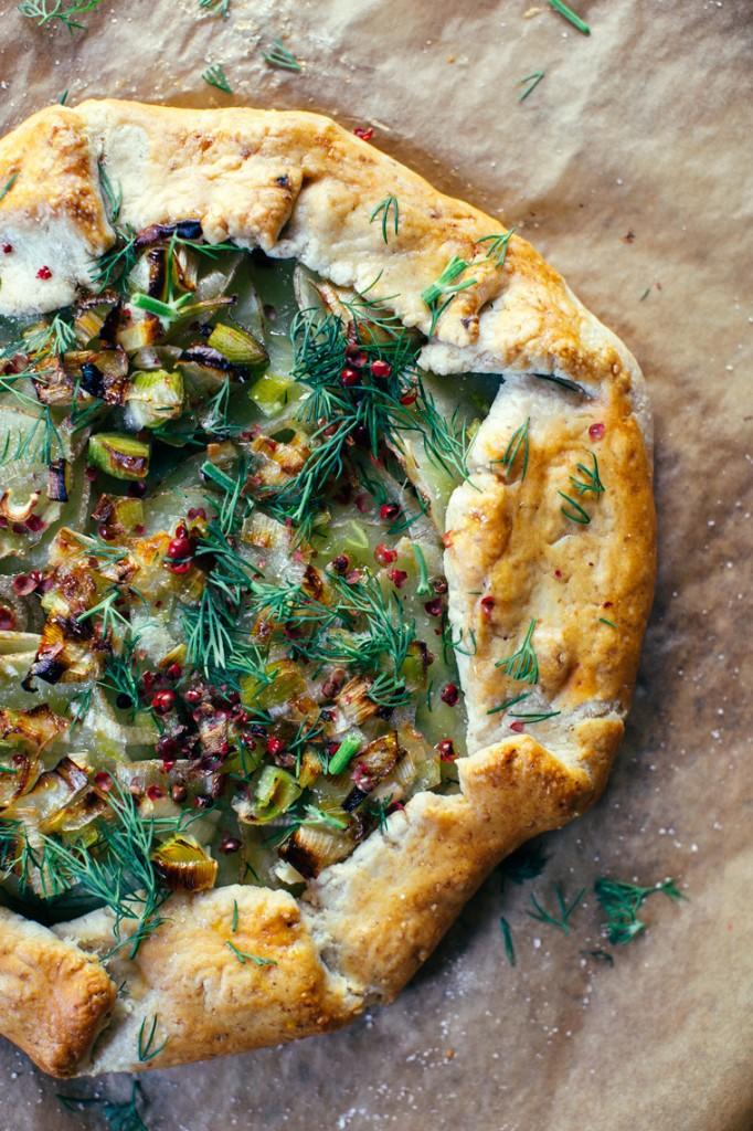 Leek + Potato Galette with Hazelnut Crust - Earthy Feast