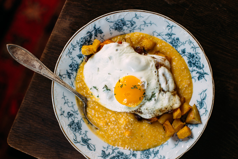 Pumpkin Grits + Pumpkin Home Fries + a Fried Egg