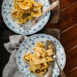 Pasta with Butternut Squash + a Creamy, Garlicky, Sage Sauce